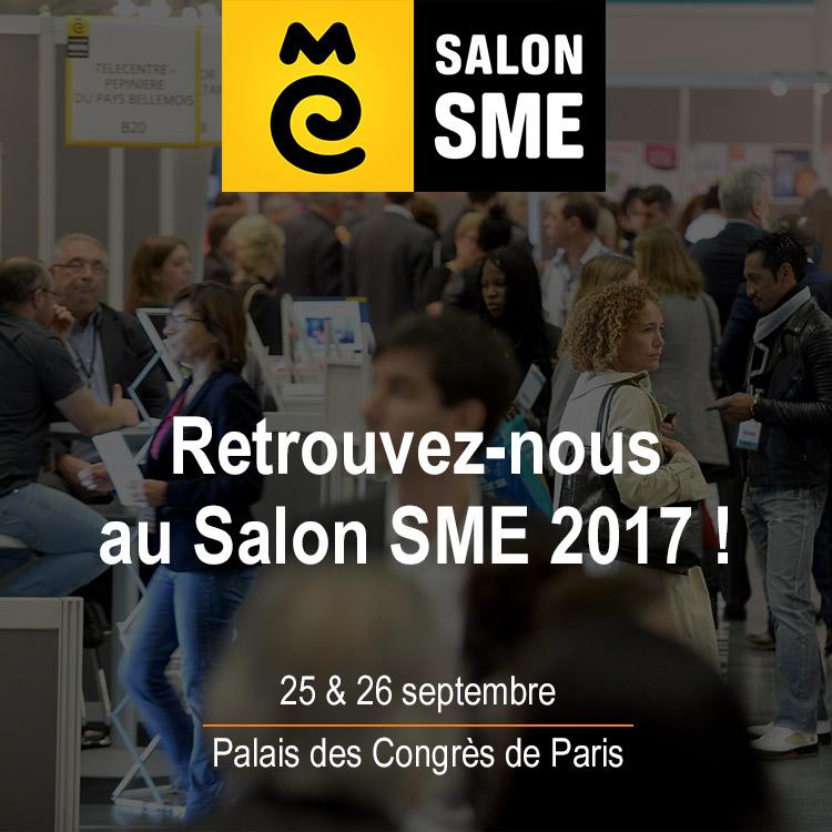 Affiche et invitation au salon SME 2016 du 4 au 6 octobre 2016 au Palais des Congrès à Paris